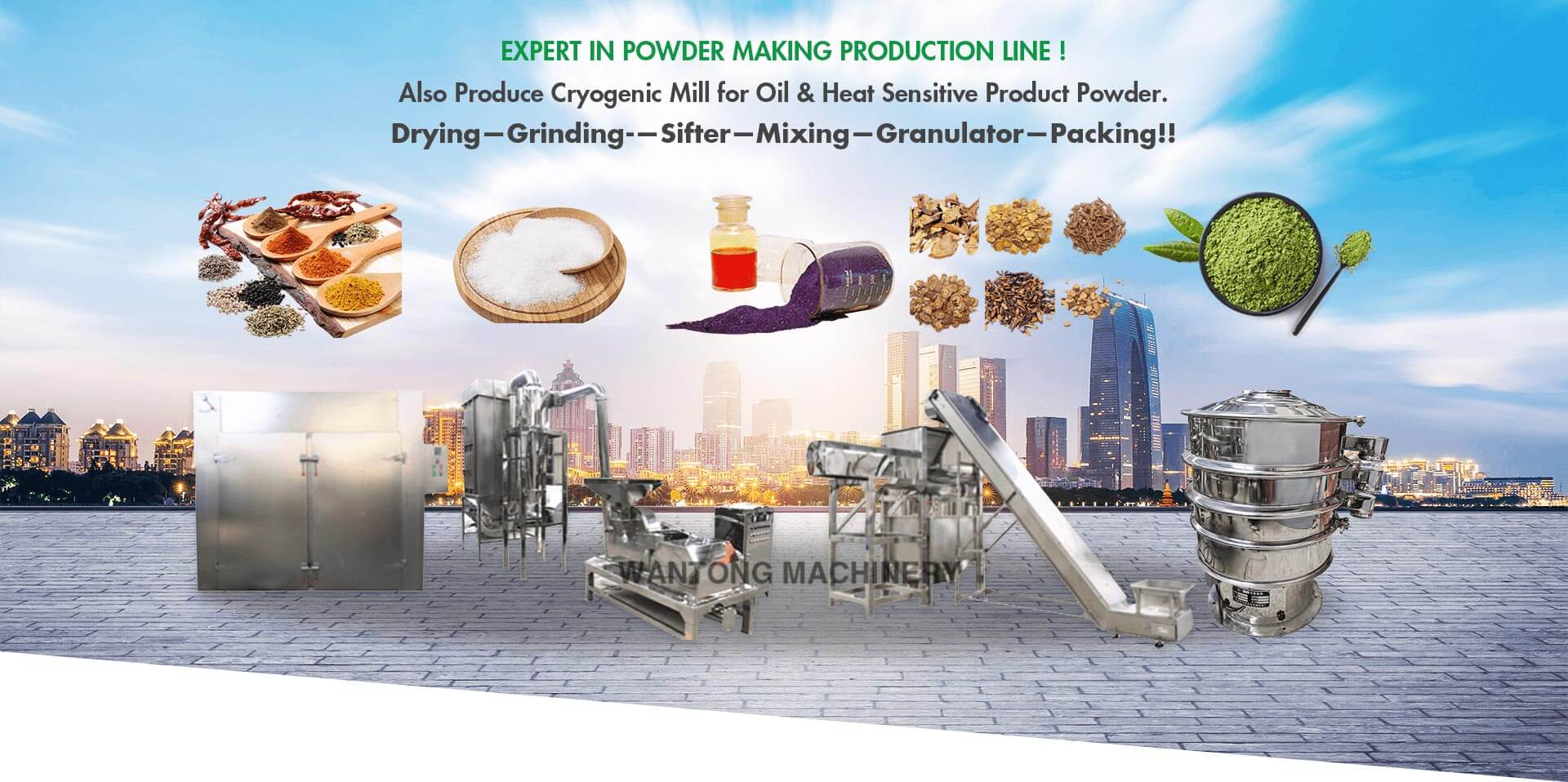 Expert in powder making production line